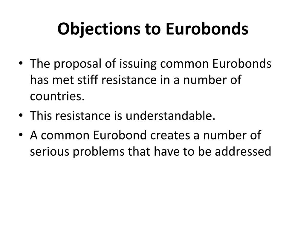Objections to Eurobonds