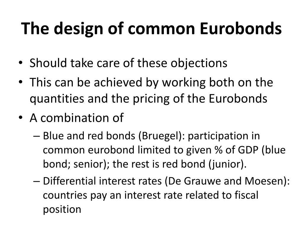 The design of common Eurobonds