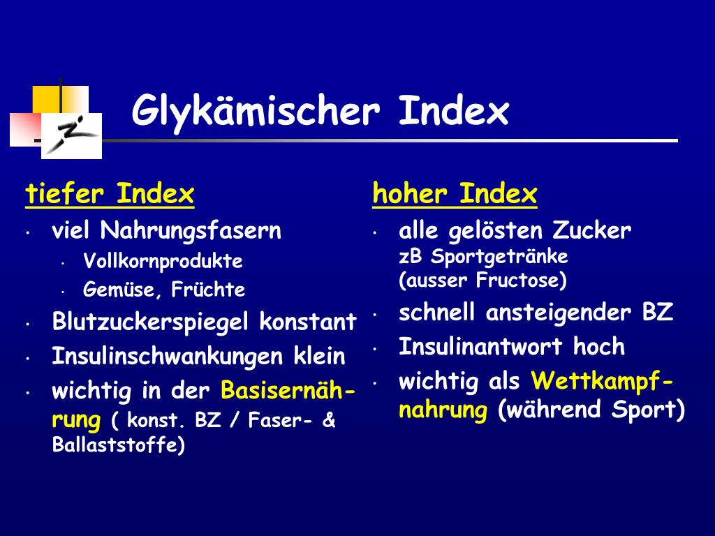 tiefer Index