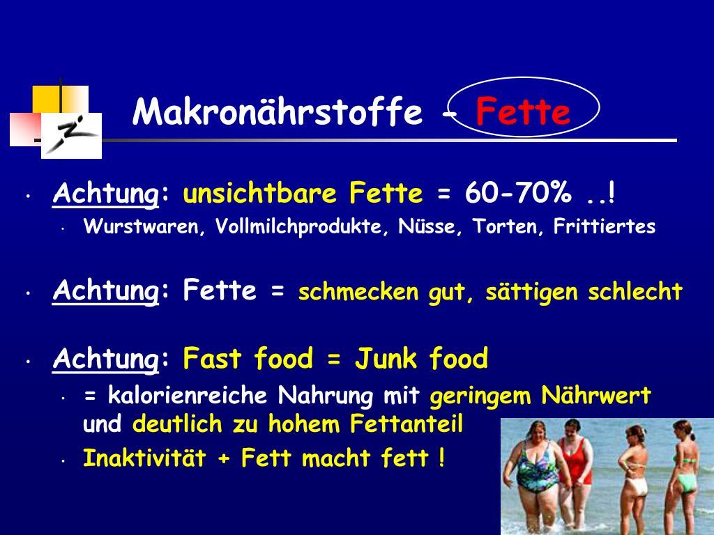 Makronährstoffe -