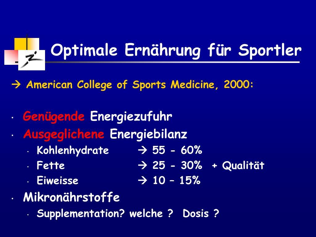 Optimale Ernährung für Sportler