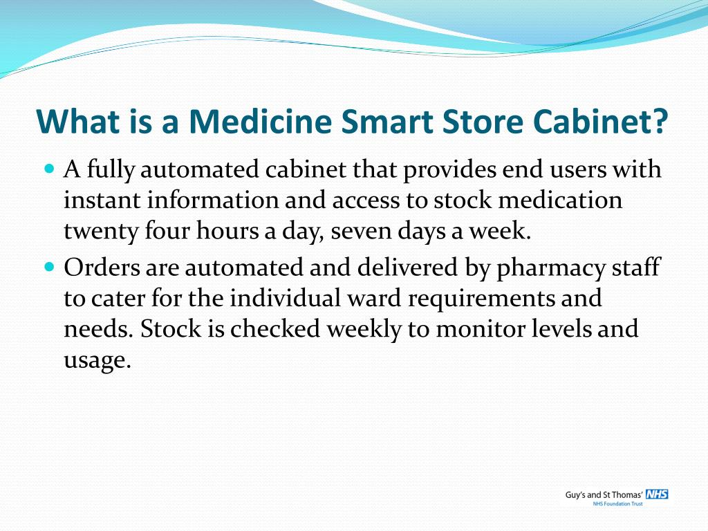 What is a Medicine Smart Store Cabinet?