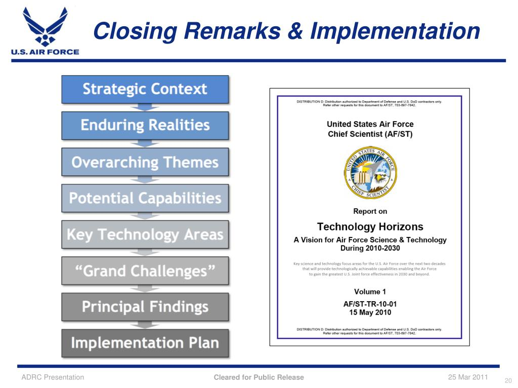 Closing Remarks & Implementation