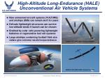 high altitude long endurance hale unconventional air vehicle systems