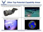 other top potential capability areas