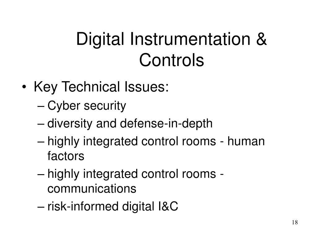 Digital Instrumentation & Controls