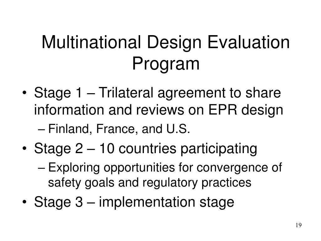 Multinational Design Evaluation Program