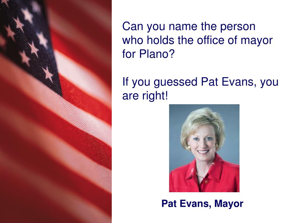 Pat Evans, Mayor