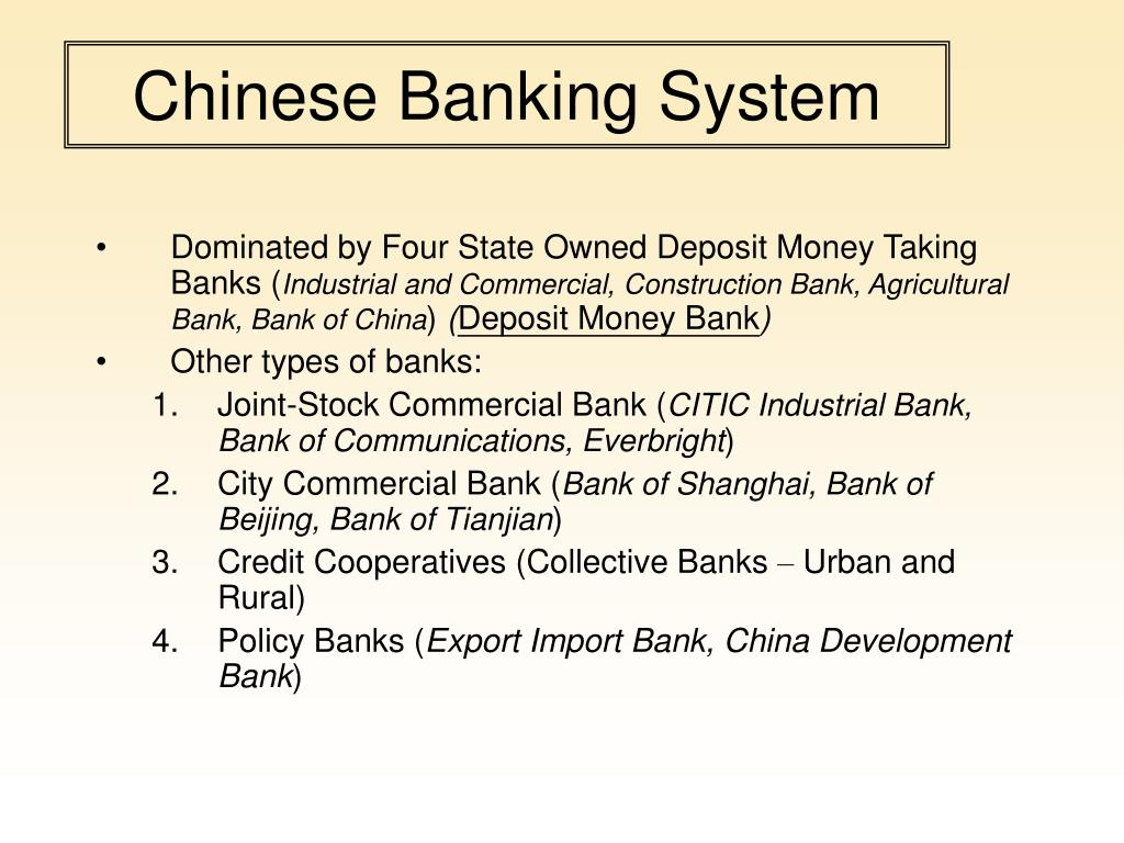 Chinese Banking System