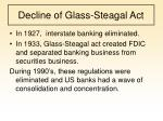 decline of glass steagal act