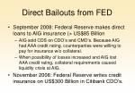 direct bailouts from fed