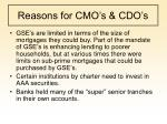 reasons for cmo s cdo s