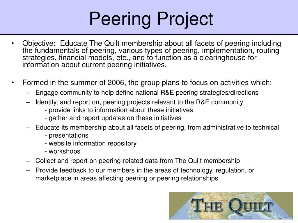 Peering Project