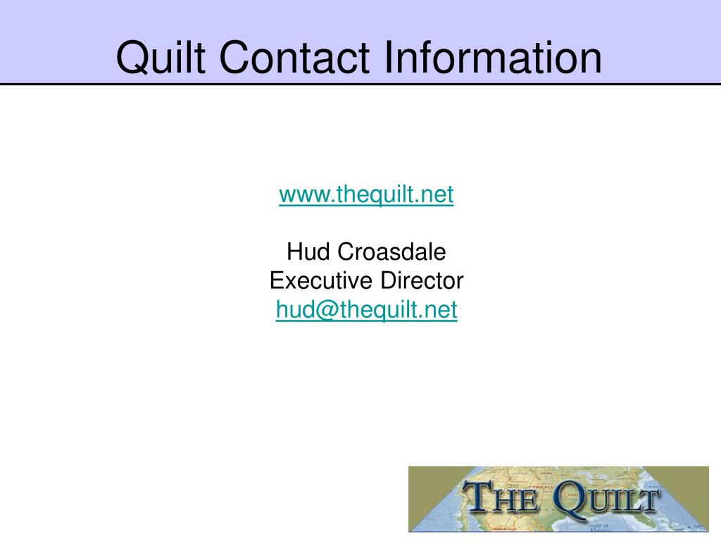 Quilt Contact Information