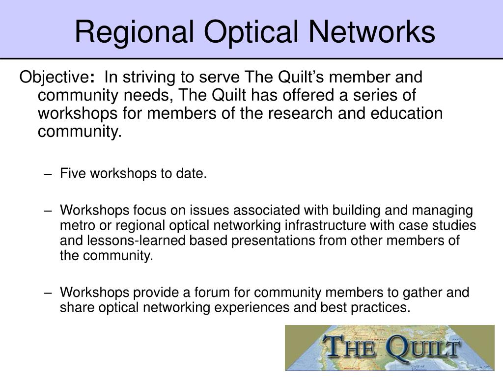 Regional Optical Networks