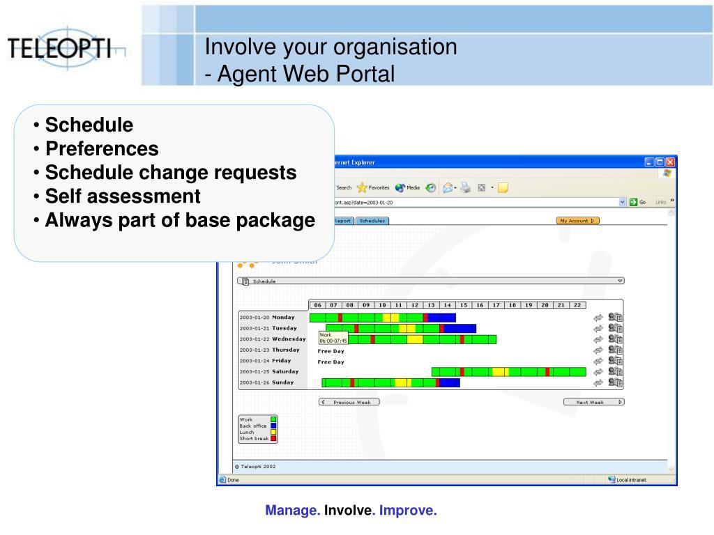 Involve your organisation