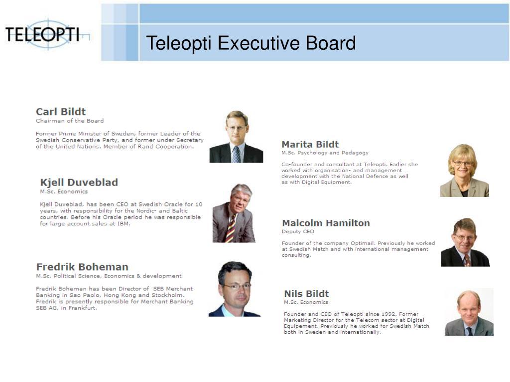 Teleopti Executive Board