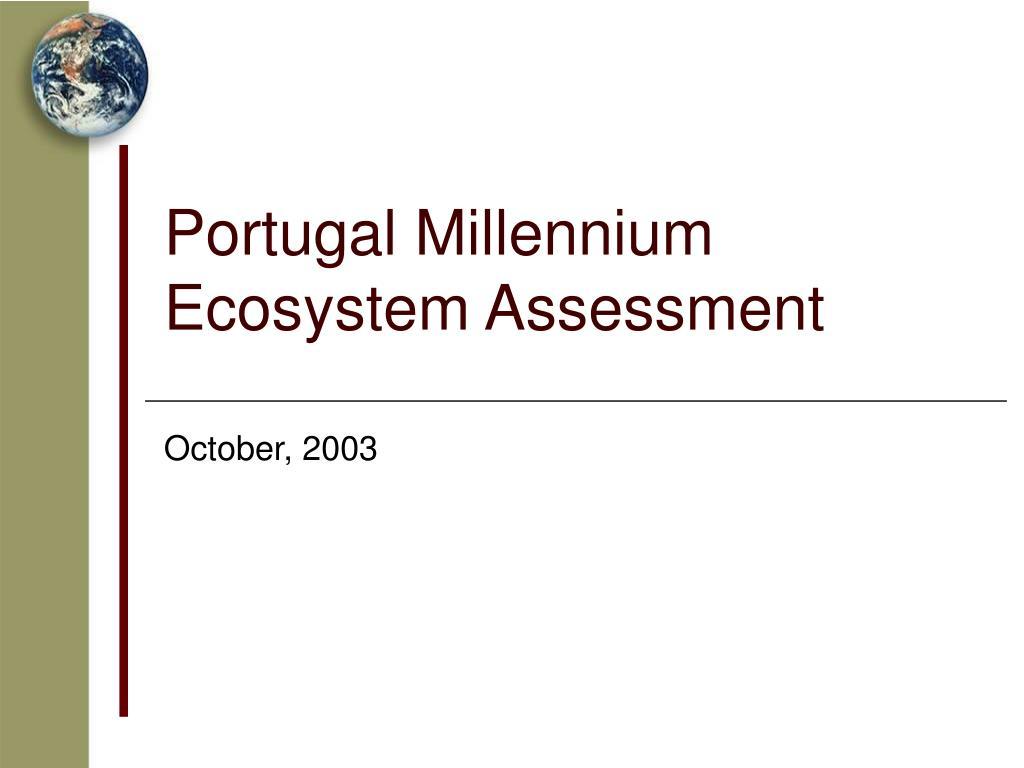 Portugal Millennium Ecosystem Assessment
