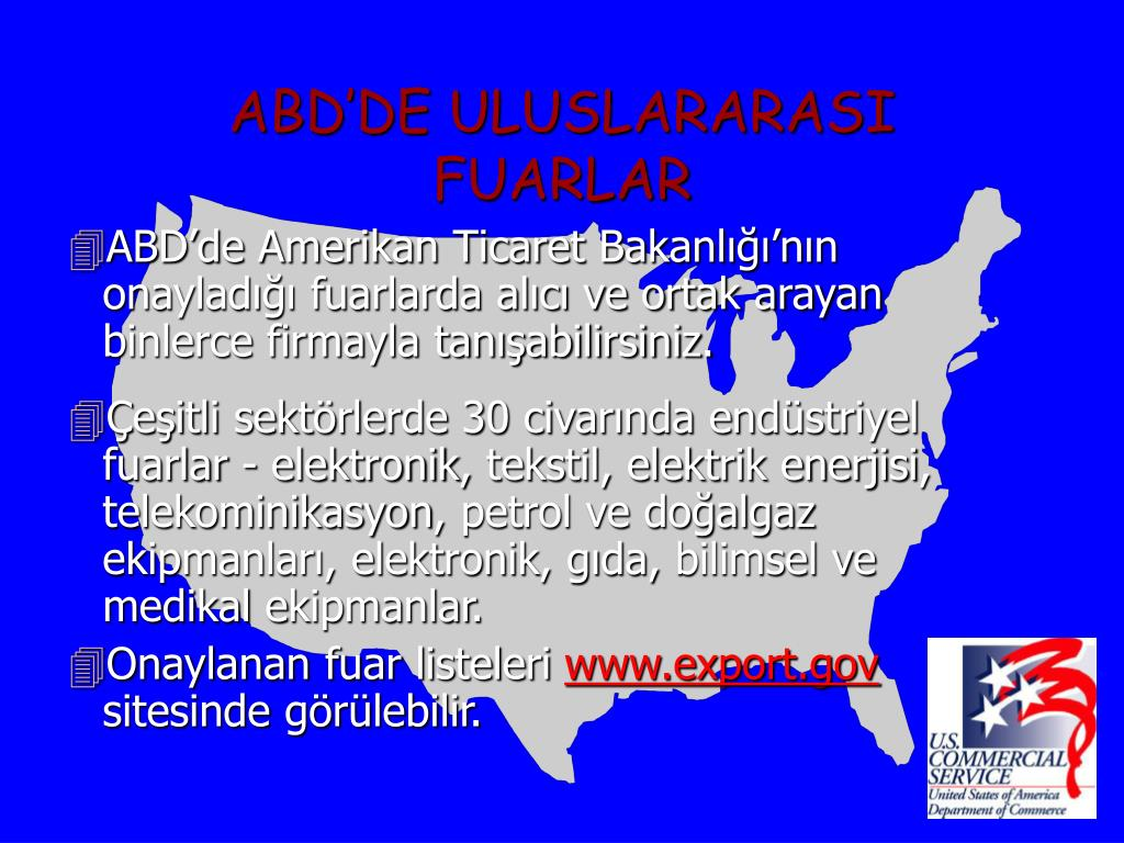 ABD'DE ULUSLARARASI FUARLAR