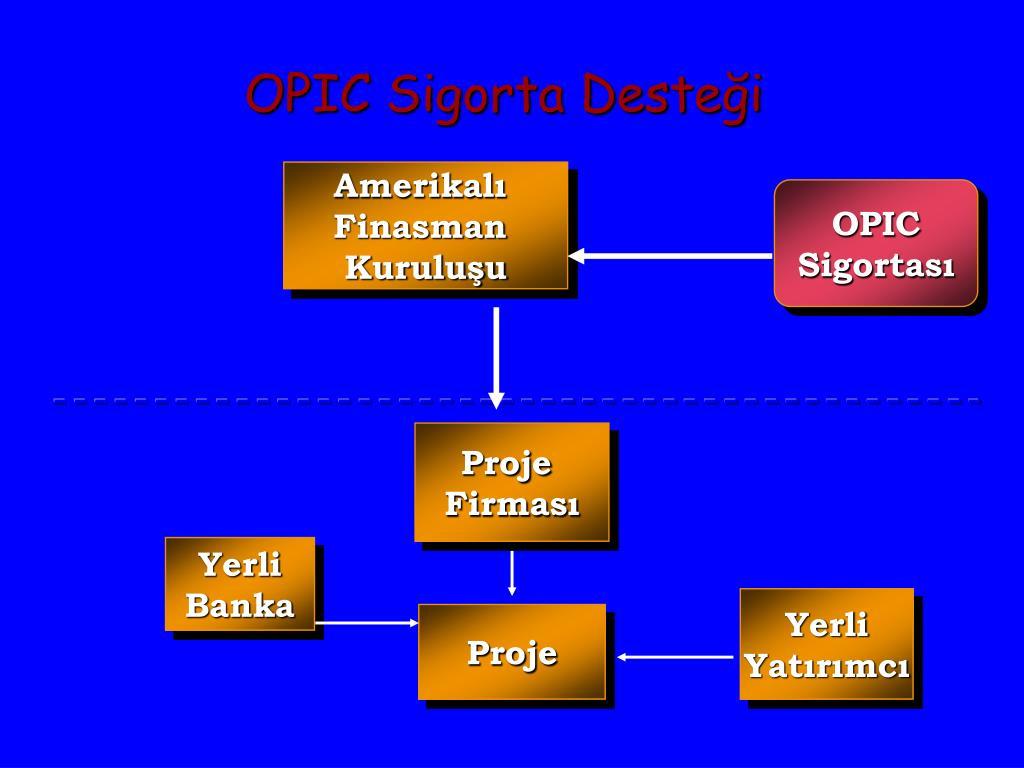 OPIC Sigorta Desteği