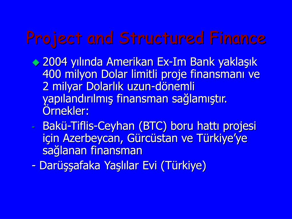 Project and Structured Finance