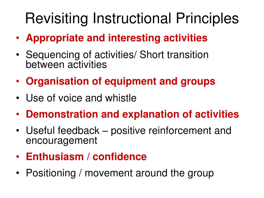 Revisiting Instructional Principles