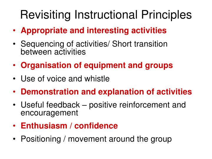 Revisiting instructional principles l.jpg