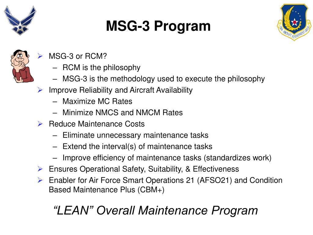 MSG-3 Program