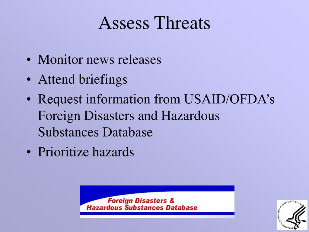 Assess Threats