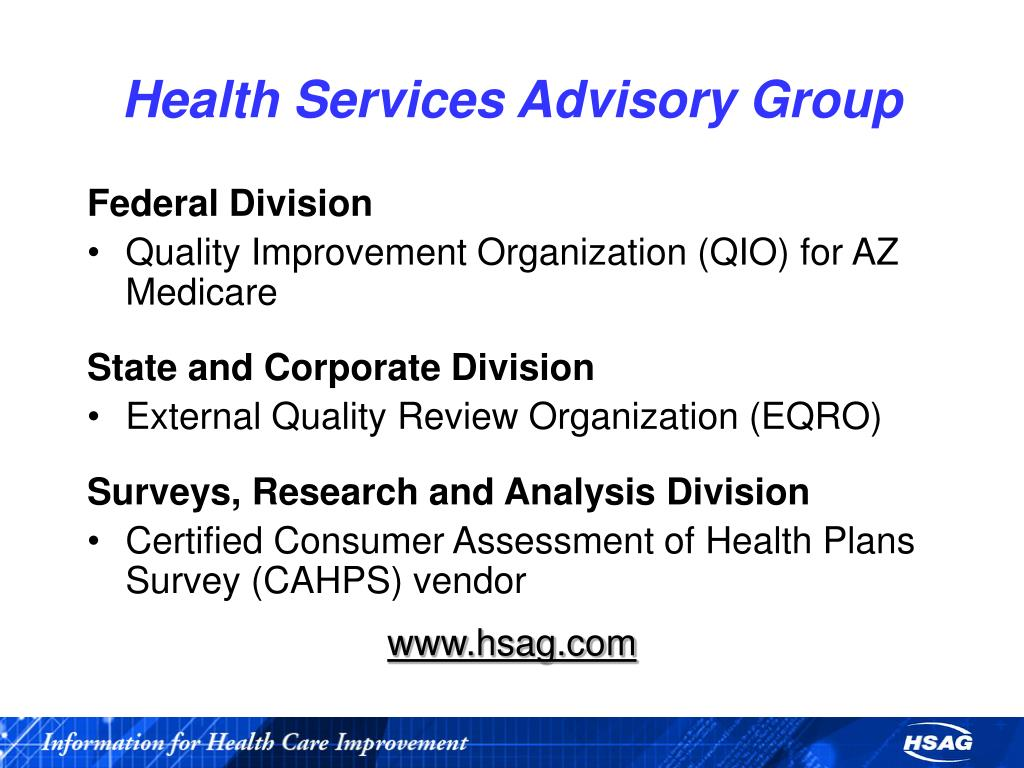 health advisory group