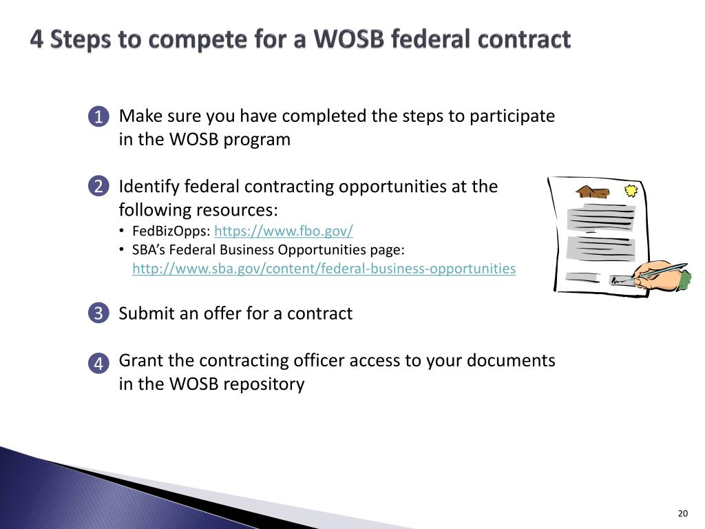 4 Steps to compete for a WOSB federal contract