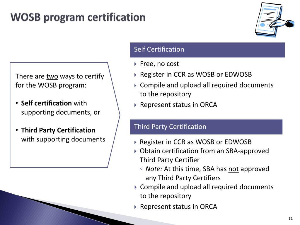 WOSB program certification