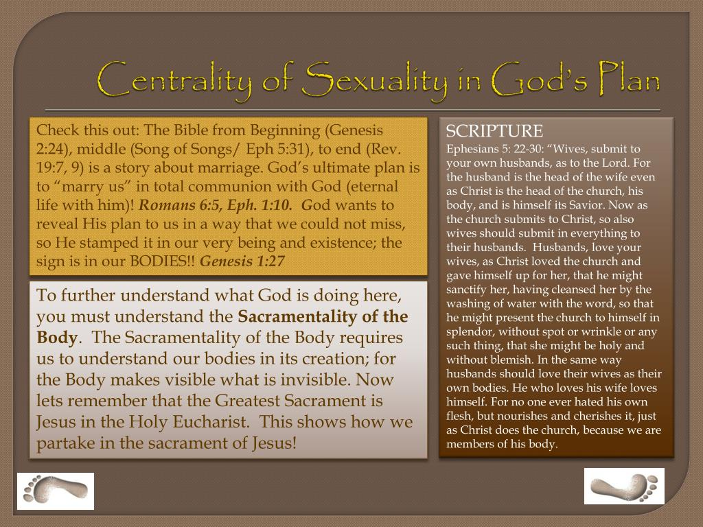 Centrality of Sexuality in God's Plan
