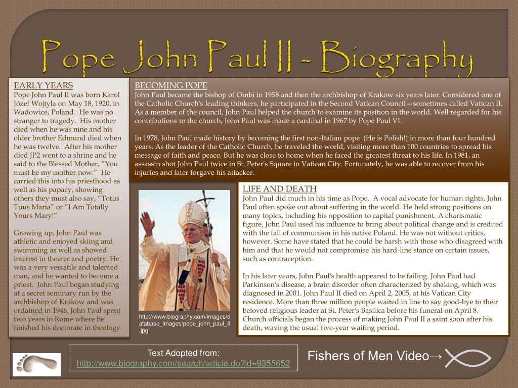 Pope John Paul II - Biography