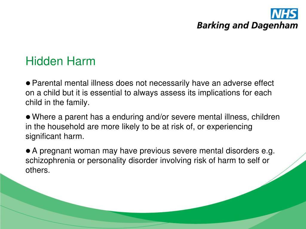 Hidden Harm