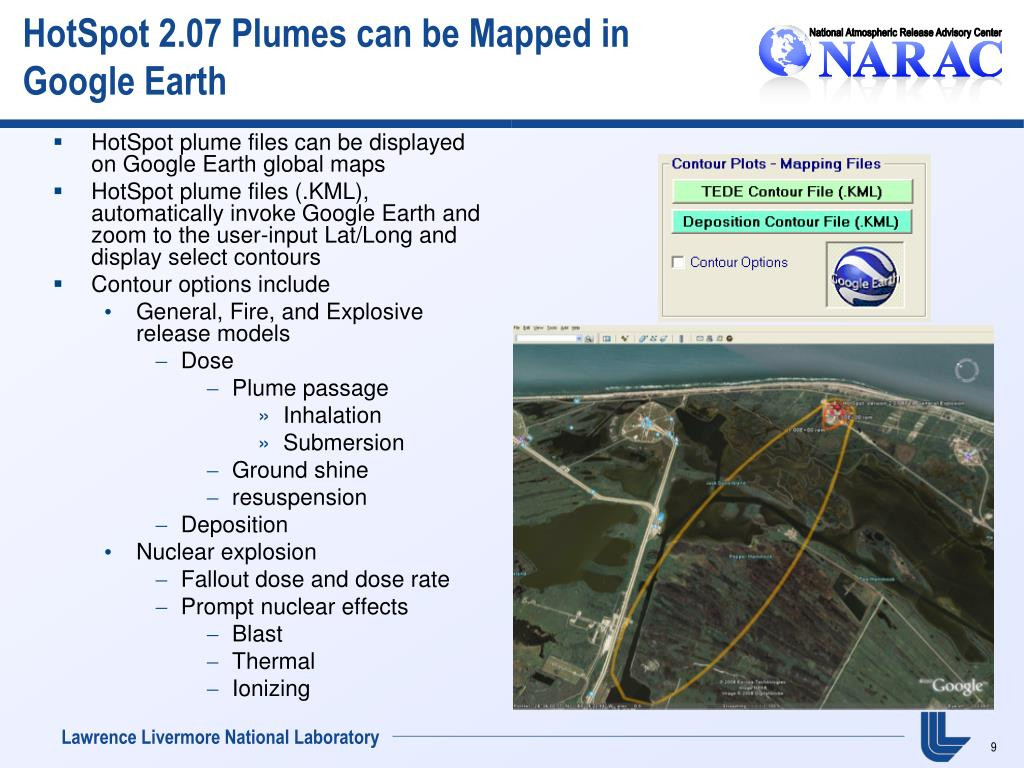 HotSpot 2.07 Plumes can be Mapped in Google Earth