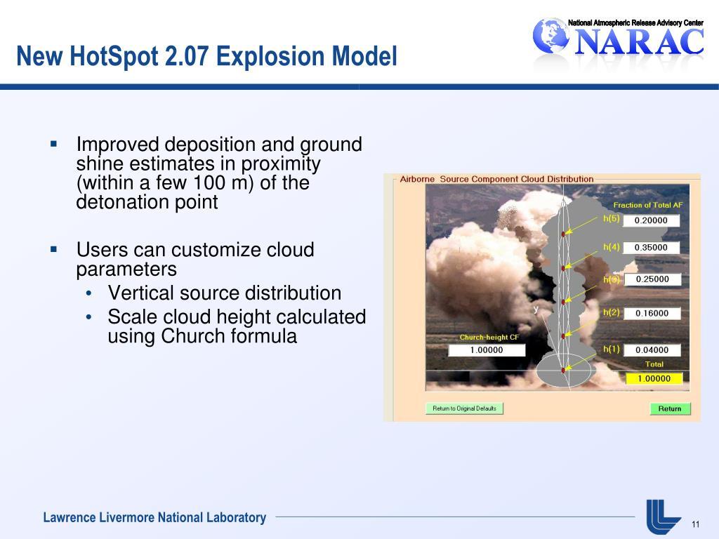 New HotSpot 2.07 Explosion Model