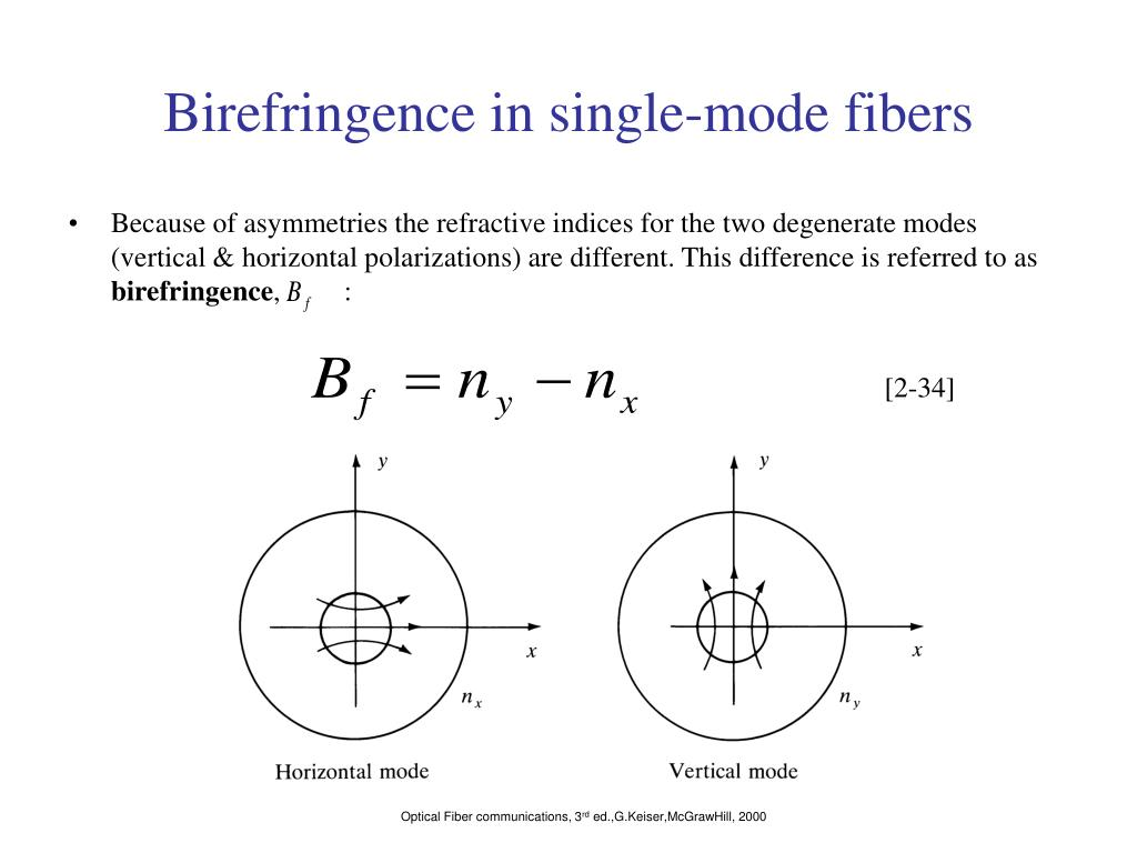 Birefringence in single-mode fibers