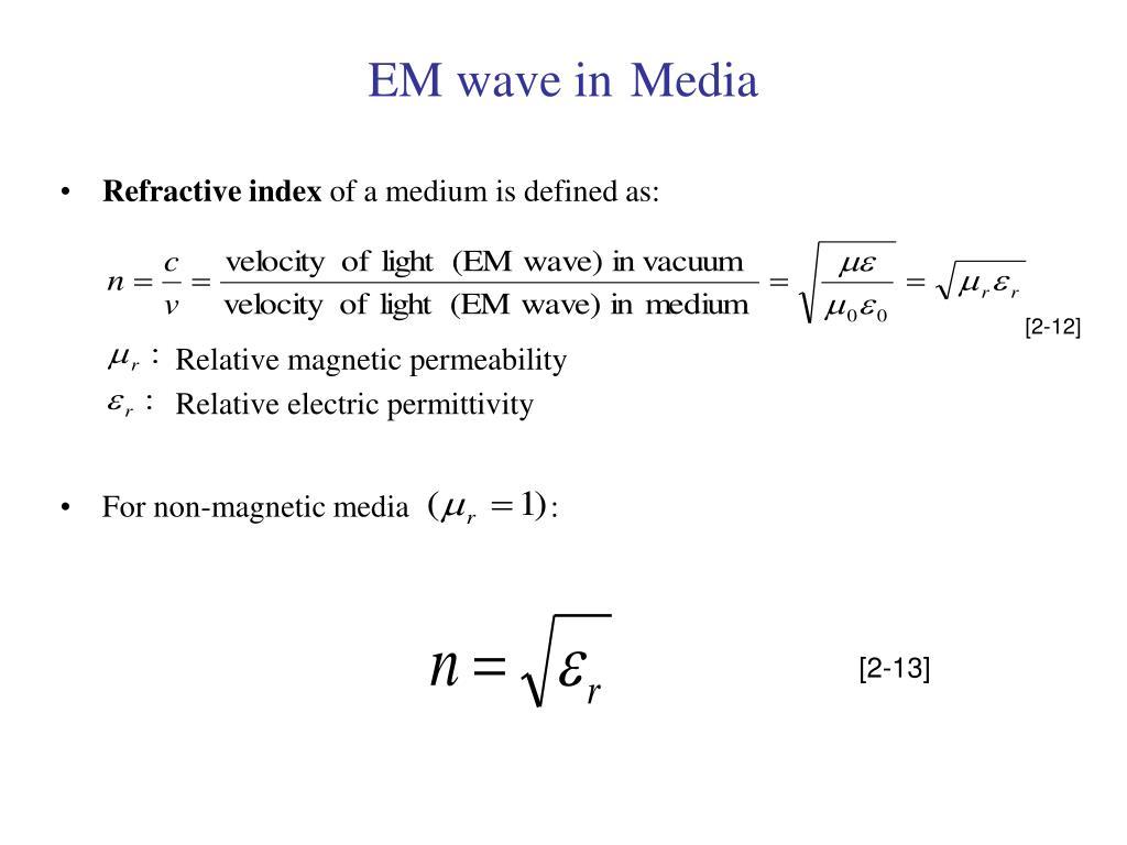 EM wave in