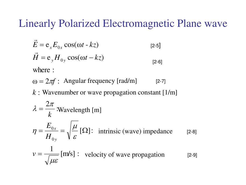 Linearly Polarized Electromagnetic Plane wave