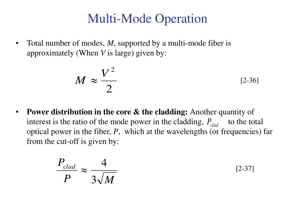 Multi-Mode Operation