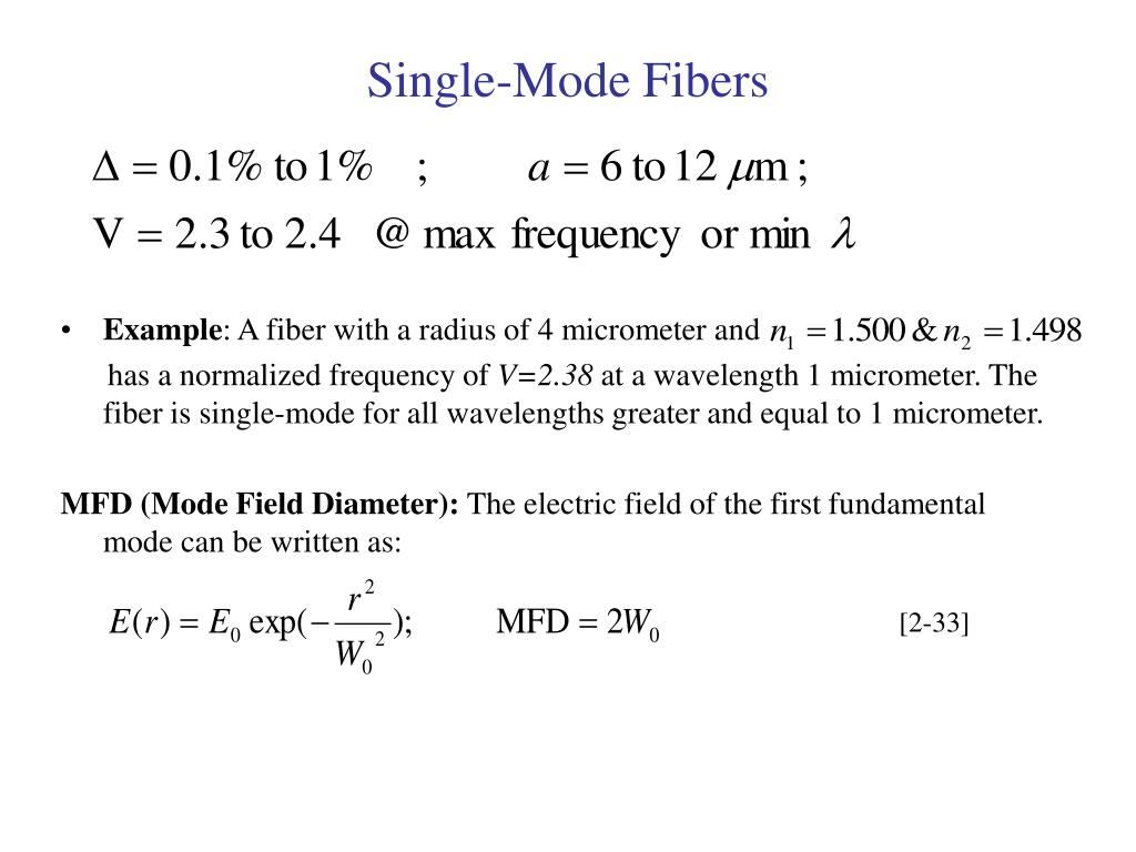 Single-Mode Fibers