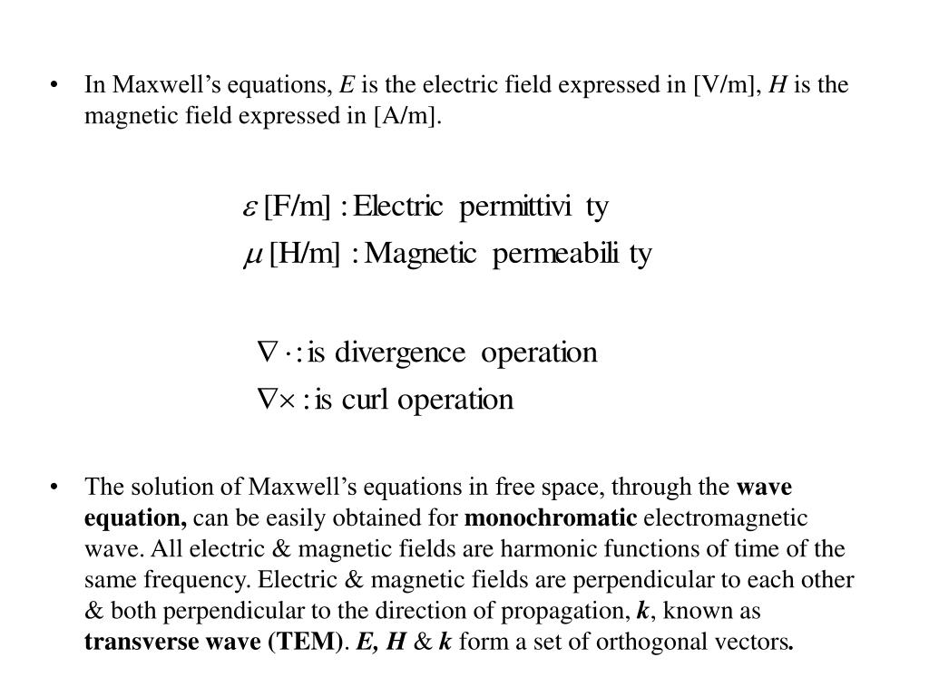 In Maxwell's equations,