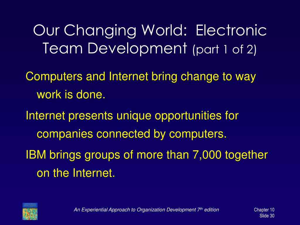 Our Changing World:  Electronic Team Development