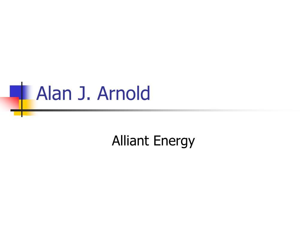 Alan J. Arnold
