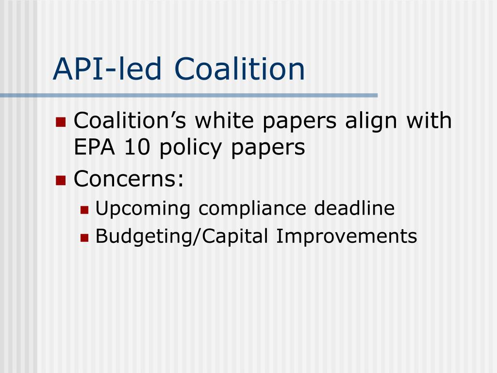 API-led Coalition