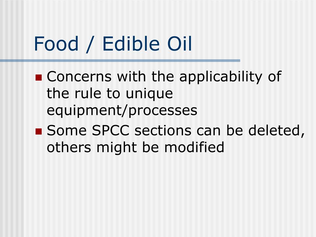 Food / Edible Oil