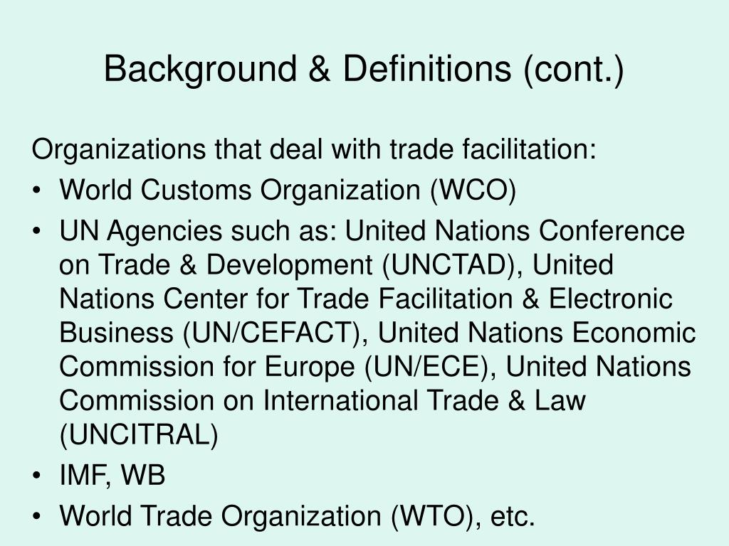 Background & Definitions (cont.)