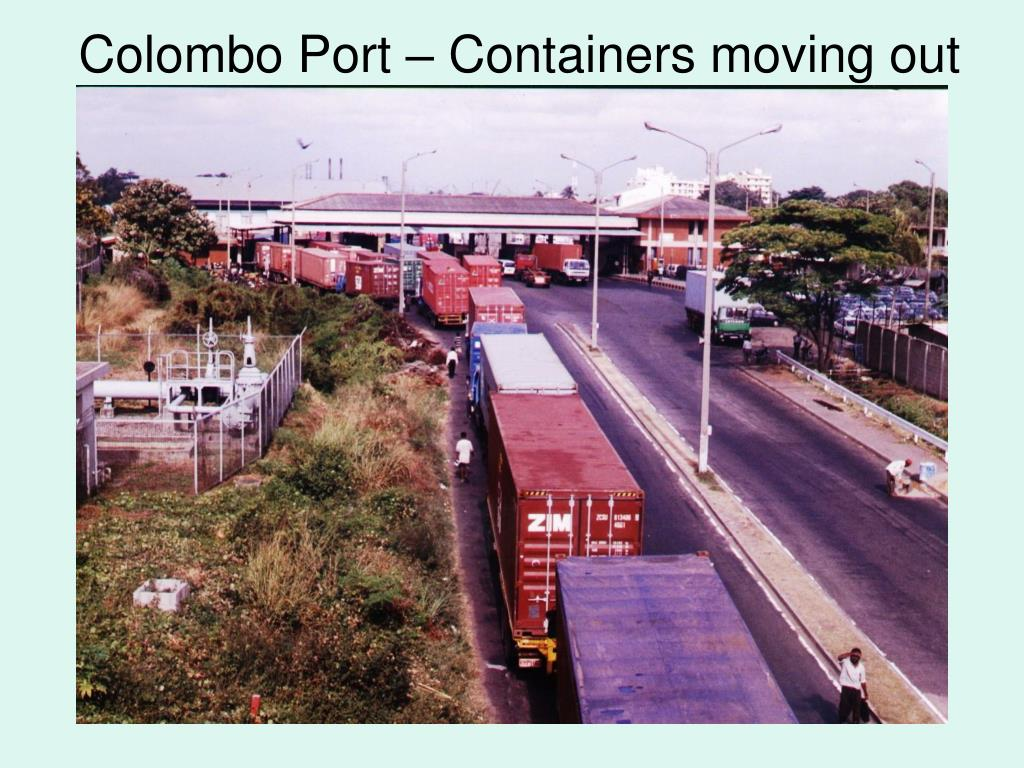 Colombo Port – Containers moving out