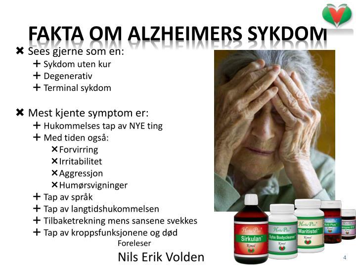 Fakta om Alzheimers sykdom